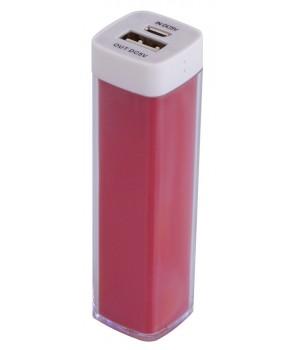 Внешний аккумулятор Bar, 2200 мАч, красный