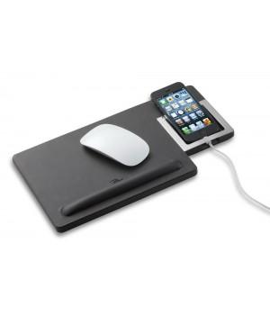 Коврик для мыши с подставкой для смартфона Giorgio, черный
