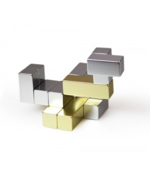 Головоломка-антистресс Cube, малая, золото