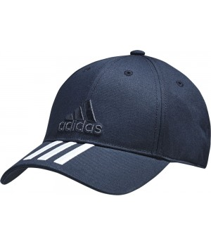 Бейсболка SIX-PANEL CLASSIC 3-STRIPES, темно-синяя