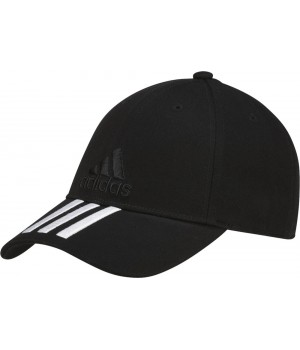 Бейсболка SIX-PANEL CLASSIC 3-STRIPES, черная