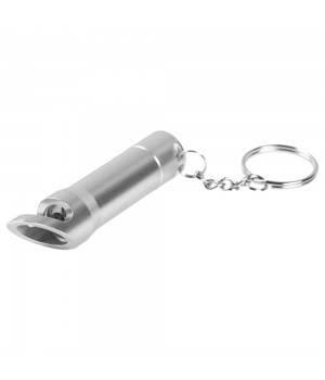 Брелок-фонарик с открывашкой Zaro, серебристый