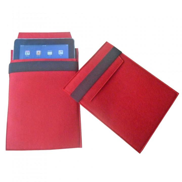 Чехол для iPad, красный с черным