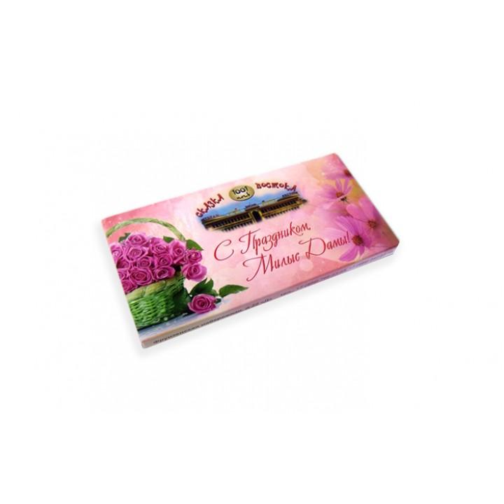 Молочный шоколад 100 гр. в картонной коробке. (артикул PR33858M)