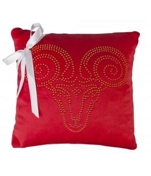 Подушка «Овен», красная