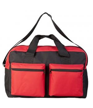 Дорожная сумка Double pocket, черно-красная