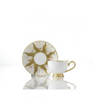 Кофейный дуэт «День» с белым блюдцем