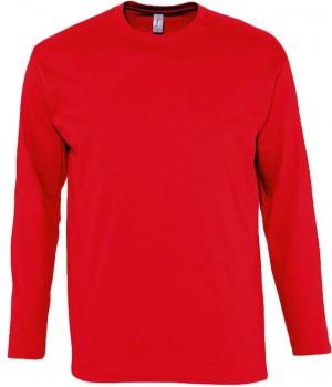Футболка мужская с длинным рукавом MONARCH 150, красная
