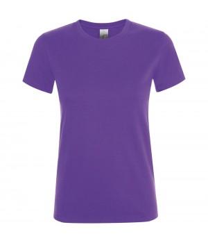 Футболка женская REGENT WOMEN, темно-фиолетовая