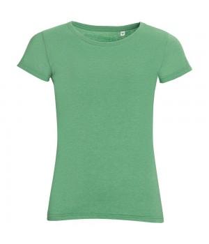 Футболка женская MIXED WOMEN, зеленый меланж