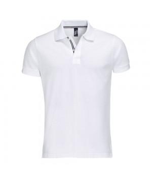 Рубашка поло мужская PATRIOT 200, белая с черным