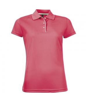 Рубашка поло женская PERFORMER WOMEN неоново-коралловая
