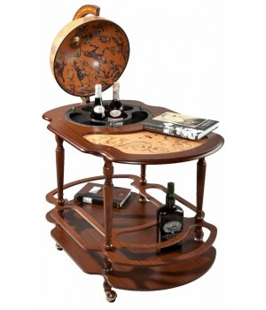 Глобус-бар-столик «Classic» на колесиках, большой