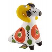 Дымковская игрушка-свистулька «Чудо чудное»