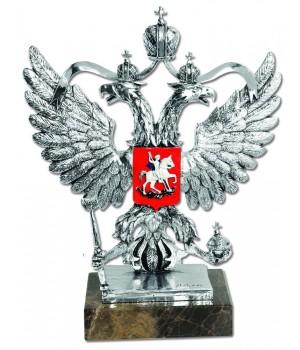 Скульптура «Герб России», серебряный декор