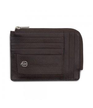 Чехол для кредитных карт Piquadro Vibe, темно-коричневый