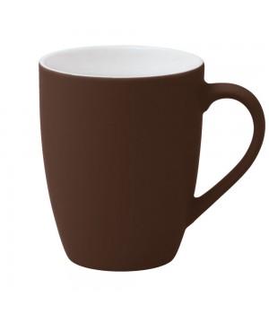 Кружка Good Morning c прорезиненным покрытием, коричневая