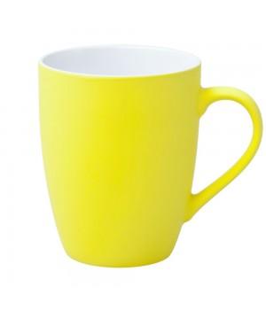 Кружка Good Morning c прорезиненным покрытием, желтая