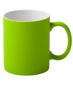 Кружка Promo c покрытием софт-тач, зеленое яблоко