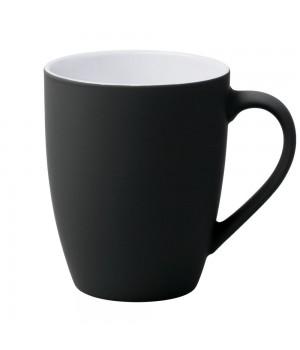 Кружка Good Morning c прорезиненным покрытием, черная