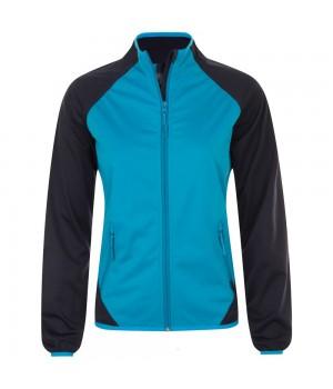 Куртка софтшелл женская ROLLINGS WOMEN, бирюзовая с темно-синим