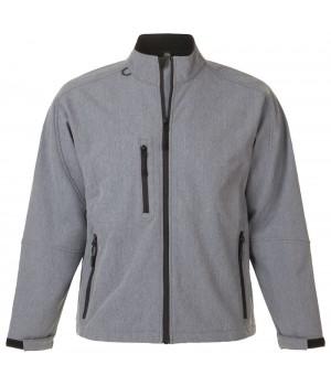 Куртка мужская на молнии RELAX 340, серый меланж