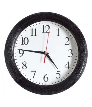 Часы настенные с деревянным ободом, мореный дуб