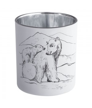 Подсвечник Forest, с изображением медведя