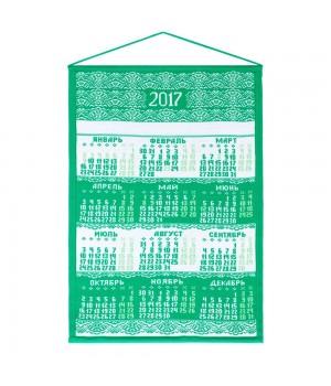 Календарь вязаный «Целый год в ажуре», зеленый