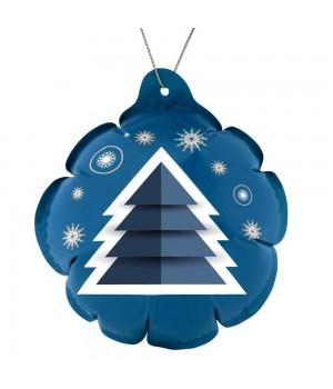 Новогодний самонадувающийся шарик «Елочка», синий
