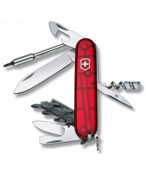 Офицерский нож CyberTool S, прозрачный красный