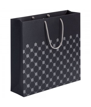 Пакет «Снежный узор», черный