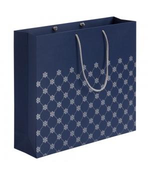 Пакет «Снежный узор», синий