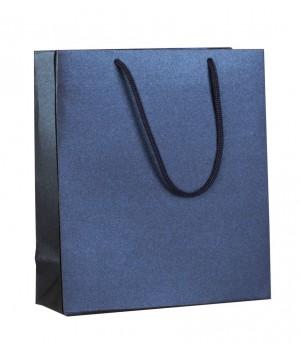 Пакет бумажный «Блеск», малый, синий