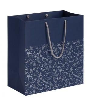 Пакет «Сказочный узор», синий