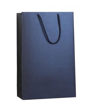 Пакет бумажный «Блеск», средний, синий