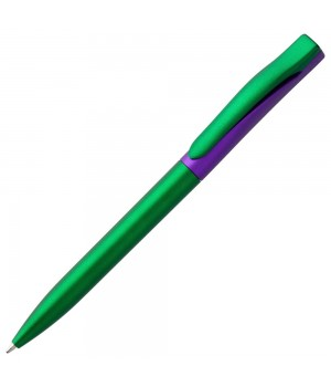 Ручка шариковая Pin Fashion, зелено-фиолетовая