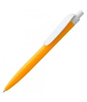 Ручка шариковая Prodir QS01 PMP-P, оранжевая с белым