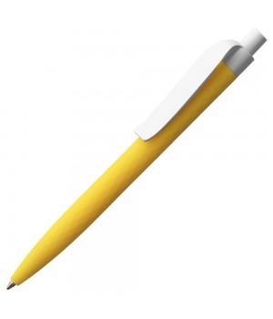 Ручка шариковая Prodir QS01 PMP-P, желтая с белым