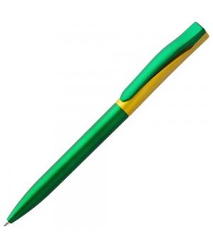 Ручка шариковая Pin Fashion, зелено-желтая