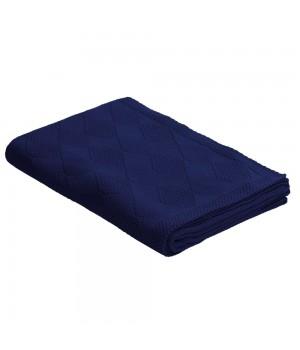 Плед Diamond, темно-синий