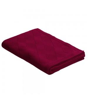 Плед Diamond, бордовый
