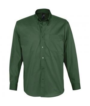 Рубашка мужская с длинным рукавом BEL AIR, темно-зеленая