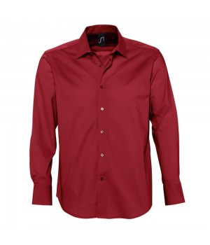 Рубашка мужская с длинным рукавом BRIGHTON, красная