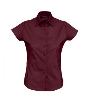 Рубашка женская с коротким рукавом EXCESS, бордовая