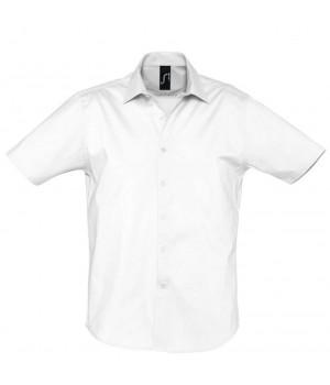 Рубашка мужская с коротким рукавом BROADWAY белая