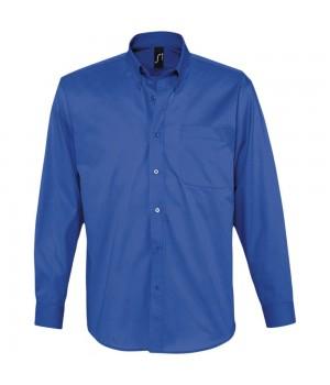 Рубашка мужская с длинным рукавом BEL AIR, ярко-синяя
