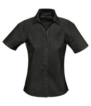 Рубашка женская с коротким рукавом ELITE, черная