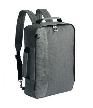 Рюкзак для ноутбука 2 в 1 twoFold, серый с темно-серым