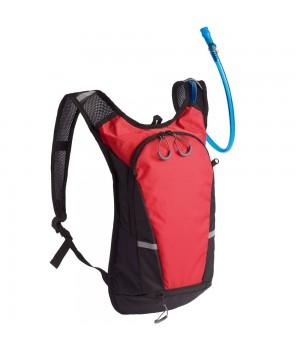 Рюкзак с питьевой системой Vattern, черный с красным